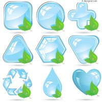 Crystal green icon vector material