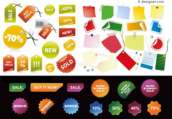 Decorative Clearance sales vector material