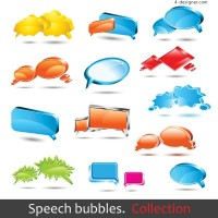 Dialogue bubble LOGO vector material
