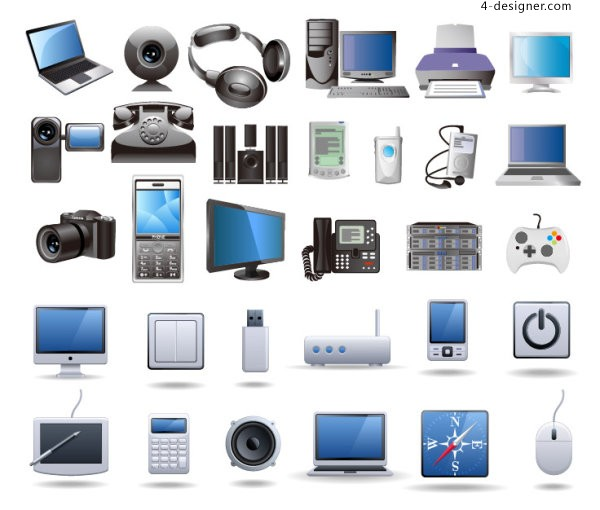 Digital product icon vector material