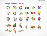 Dynamic graphic design vector material
