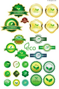 Environmental eco label vector material