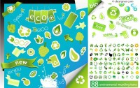 Environmental series icons vector material
