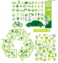 Environmental theme icon vector material