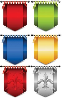 European flags icon vector material