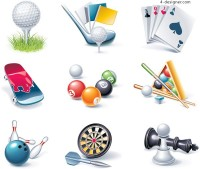 Game entertainment icon vector material