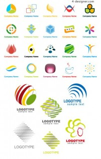 Graphic logo template vector material
