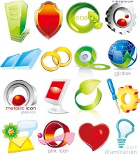Graphical icon vector material