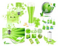 Green Series vector material