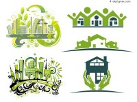 Green house vector material