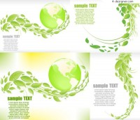 Green leaves the Earth Vector material
