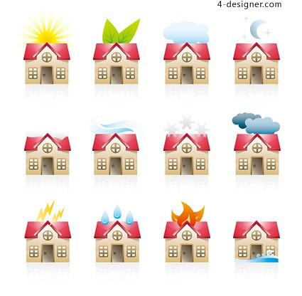House Icon vector material