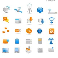Industry icon vector material