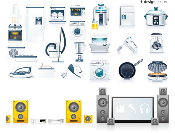 Kitchen Liances Icon Vector Material
