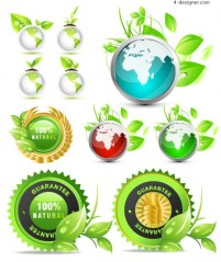 Leafy green icon vector material