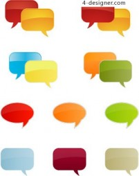 Light colored dialogue bubble vector material