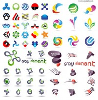 Logo graphics template vector material