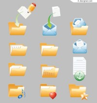 Lovely folder icon vector material