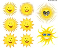 Lovely sun expression vector material