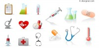 Medical related icons vector material