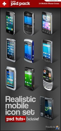 Mobile phone icon vector material