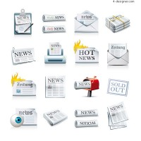 Newspaper icon vector material