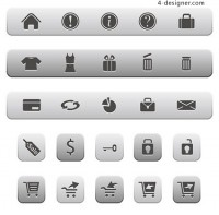 Online Shopping Icons vector material