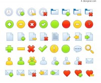 Page useful icon 2 vector material