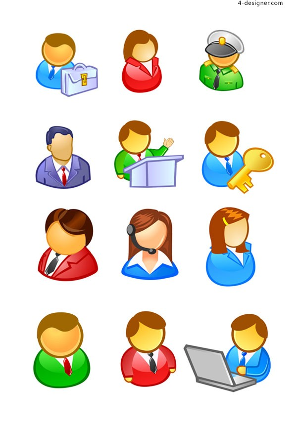 People User icon vector material