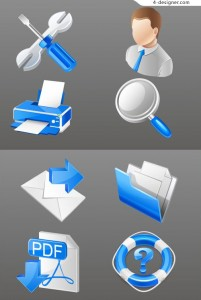 Practical business icon vector material