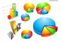 Practical statistics icon vector material