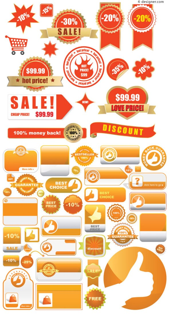 Product Shopping Tags vector material