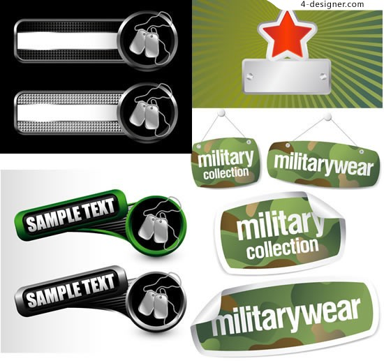 Product labels tag vector material