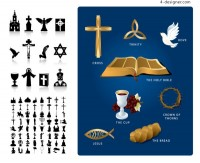 Religious theme vector material