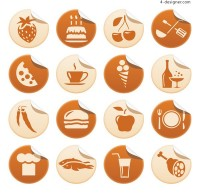 Roll angle icon vector material