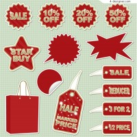 Sales discount icon vector material