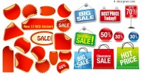 Sales icon vector material