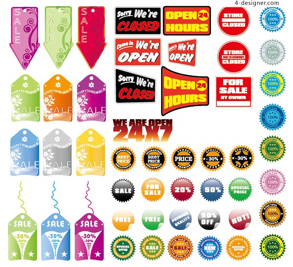 Sales of decorative patterns vector material