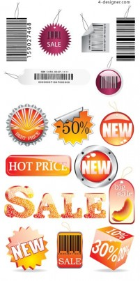 Sales related icons vector material