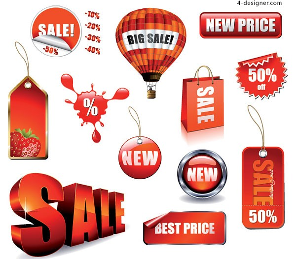 Sales related to decorate vector material
