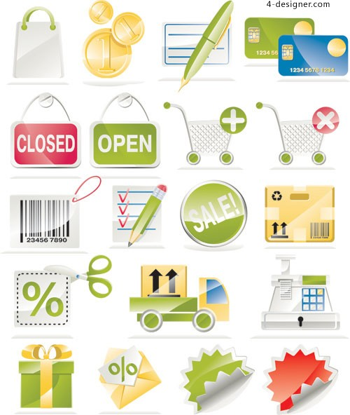 Shopping sales icon vector material