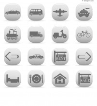 Simple Travel Icons vector material