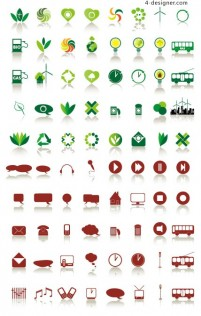 Simple icon vector material