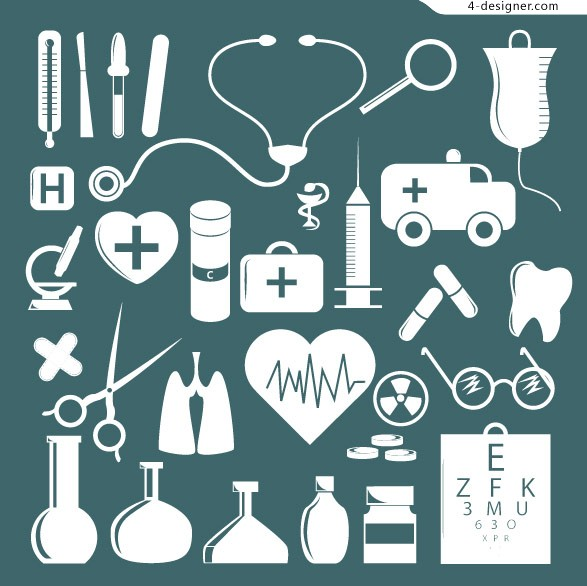 Simple medical icon vector material