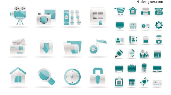 Simple web icon vector material