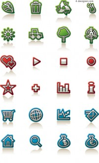 Simply furnished small icon vector material
