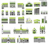 Small green house vector material