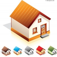 Small house icon vector material