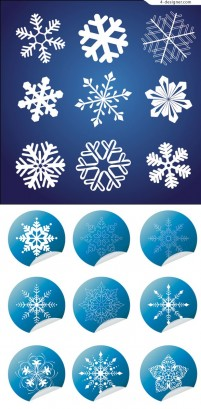 Snow and wrap angle icon vector material
