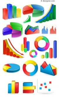 Statistics icon vector material